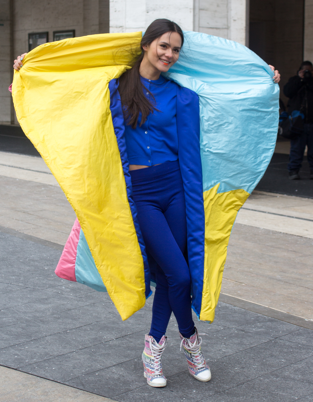 This Girl Managed to Make a Sleeping Bag Look Fashionable at NYFW