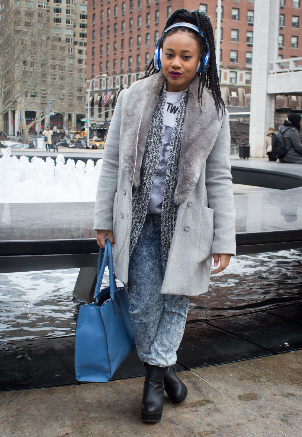 Winter-friendly street style // www.brokeandchic.com