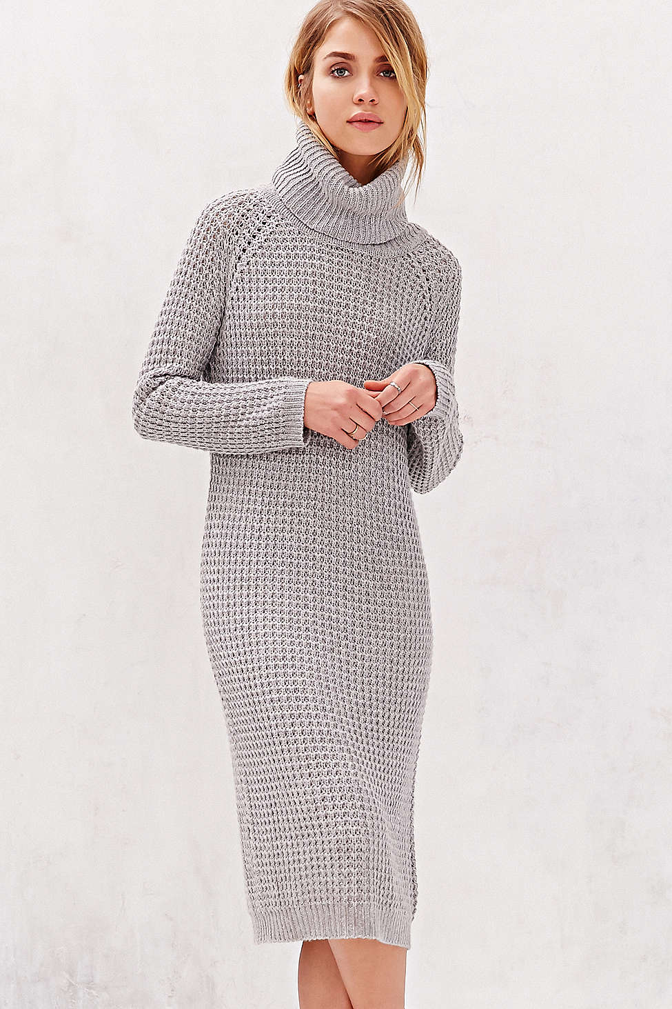 Survive the Polar Vortex in Style with a Sweater Dress