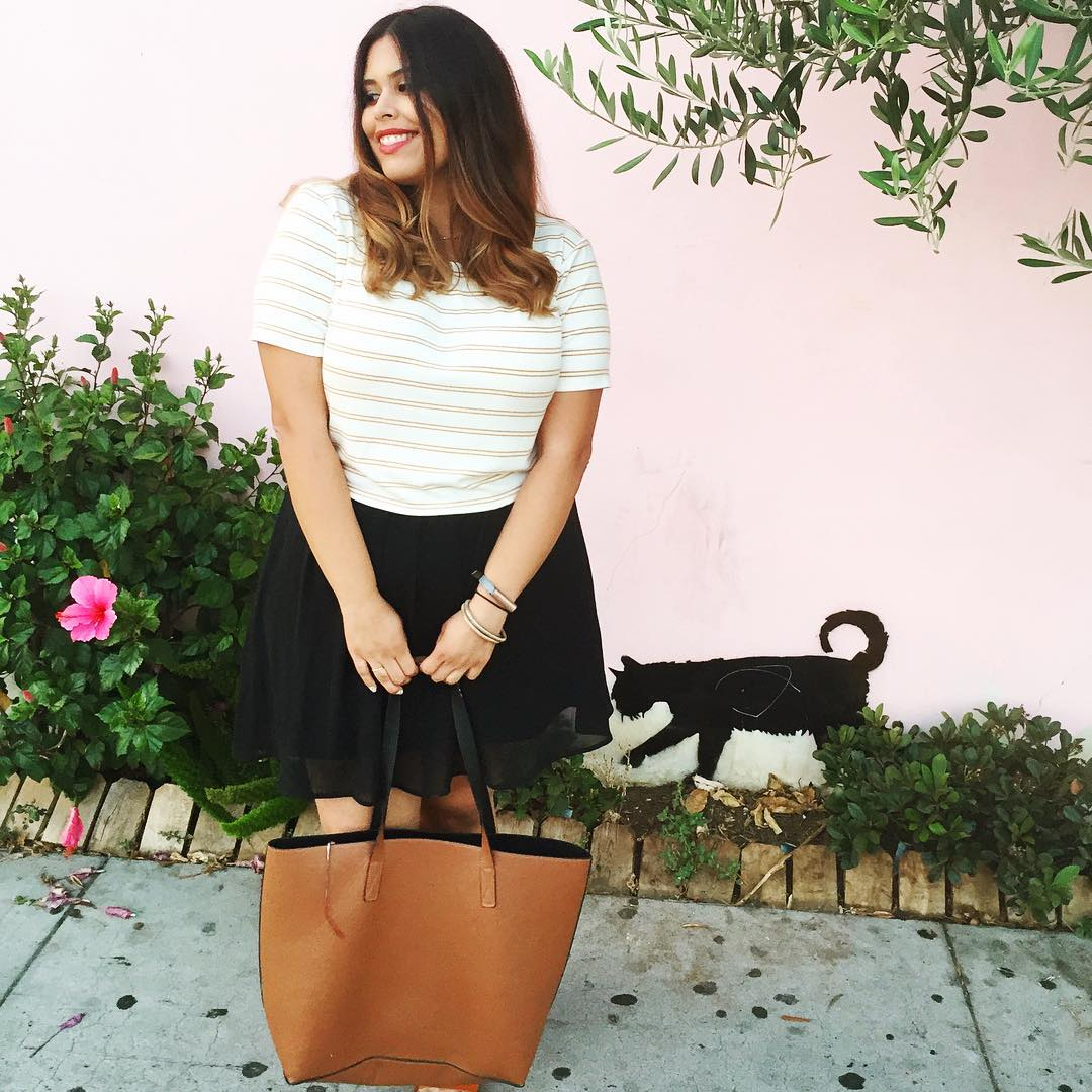 Never Not Wearing Stripes // www.brokeandchic.com
