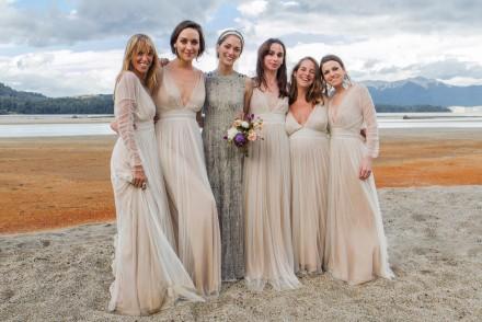 Sofía Sanchez Barrenechea's off-beat wedding gown