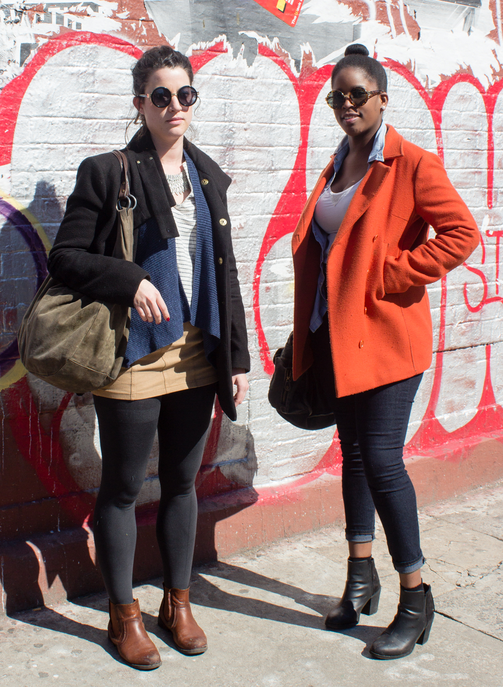 Street Style: 13 New Yorkers Taking Advantage of Today's Spring-ish Weather