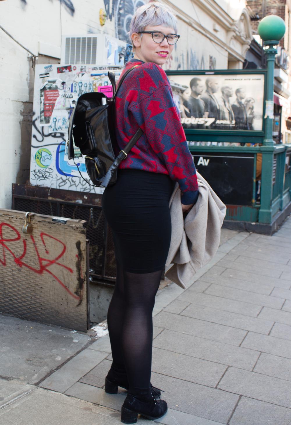 Street style off the Bedford L train // www.brokeandchic.com
