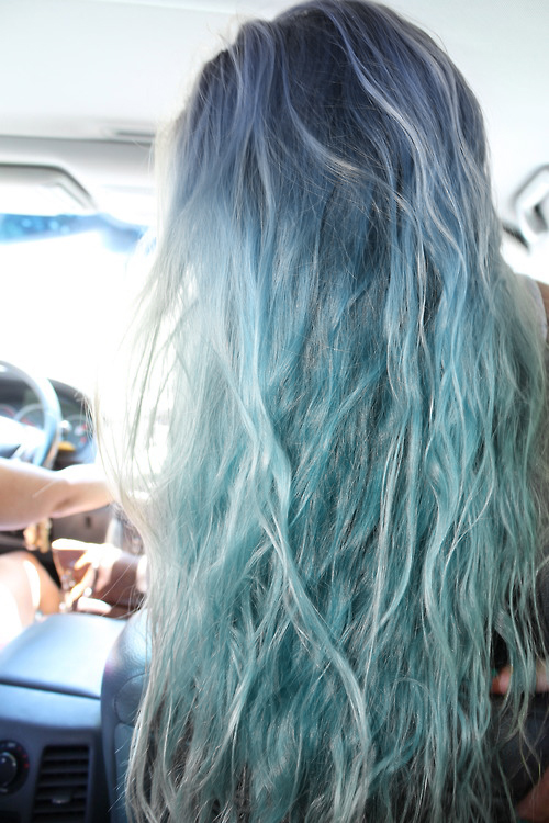 Blue hair, don't care // www.brokeandchic.com