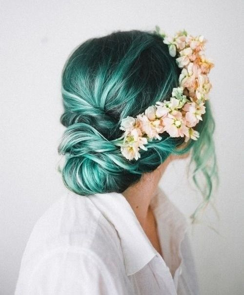 Teal hair for the win // www.brokeandchic.com