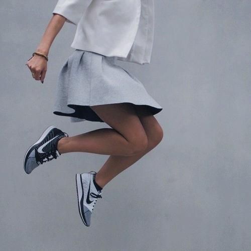 Sneakers + Skirt = <3