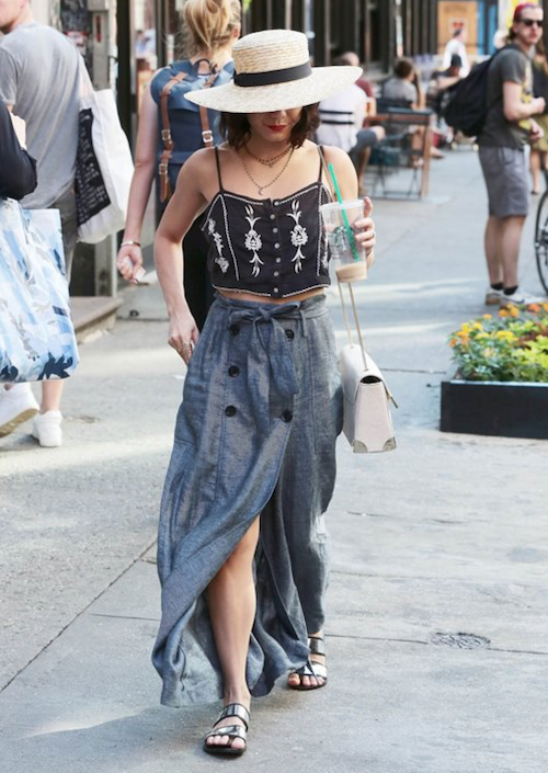 Learn how to get Vanessa's look for less on www.brokeandchic.com!