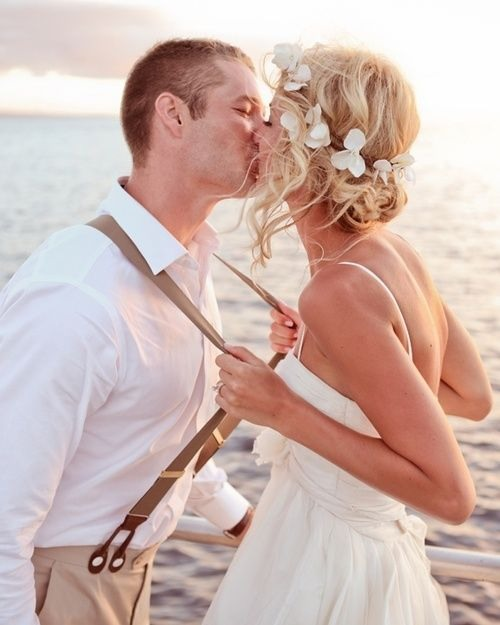 Adorable wedding photo!