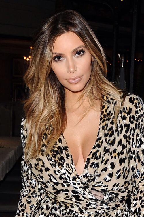 On-point ombre on Kim K