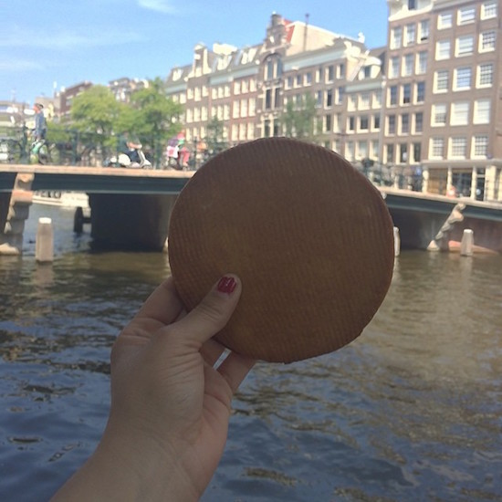 Stroopwafel from Lanskroon in Amsterdam