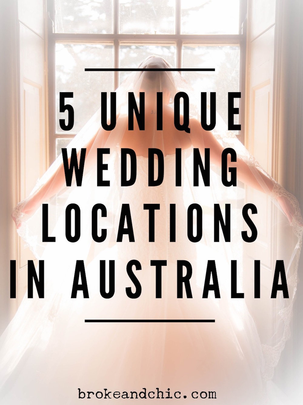 5 Unique Wedding Locations in Australia // brokeandchic.com