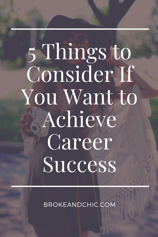 career success advice