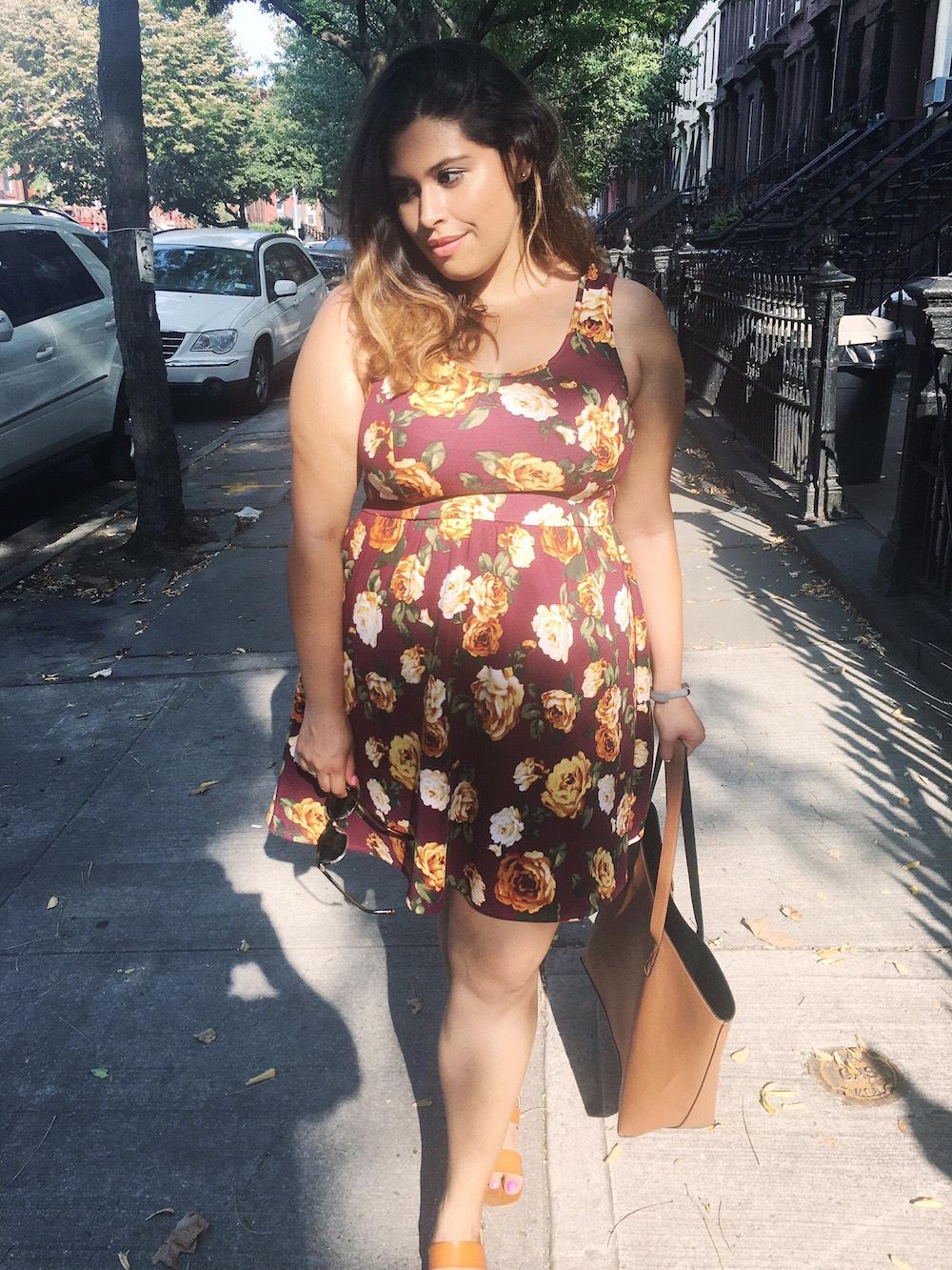 Trend Alert: Burgundy Floral Dresses // brokeandchic.com
