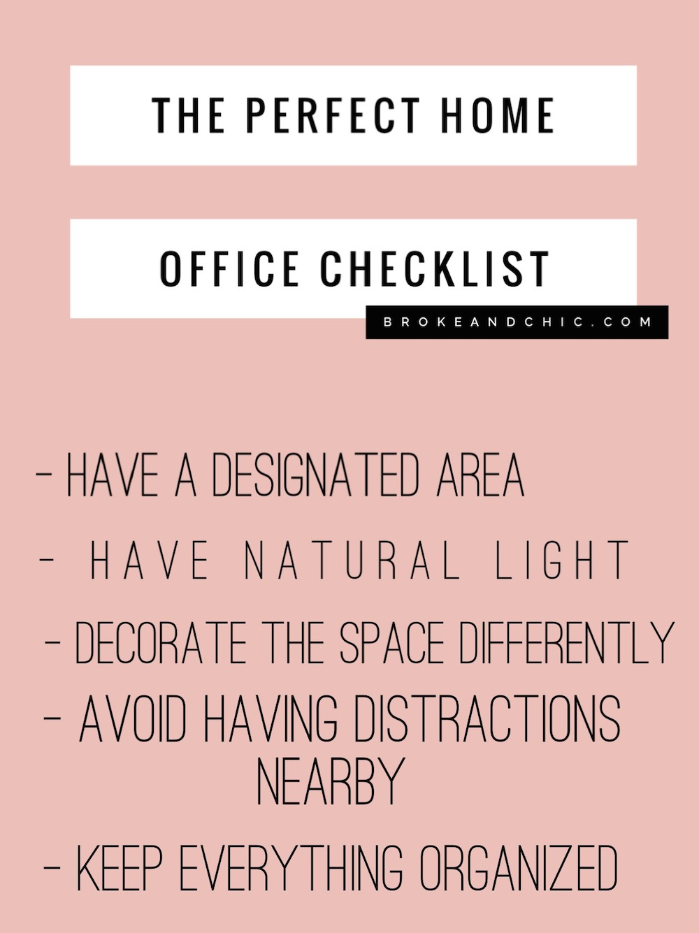 The Perfect Home Office Checklist Brokeandchic