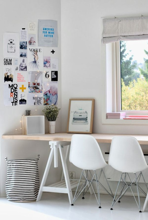 bright home office!
