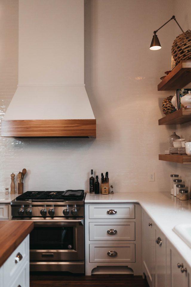 Kitchen storage idea // www.brokeandchic.com