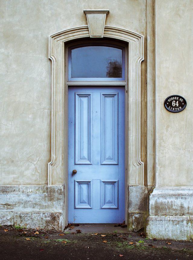 Millwork door // www.brokeandchic.com