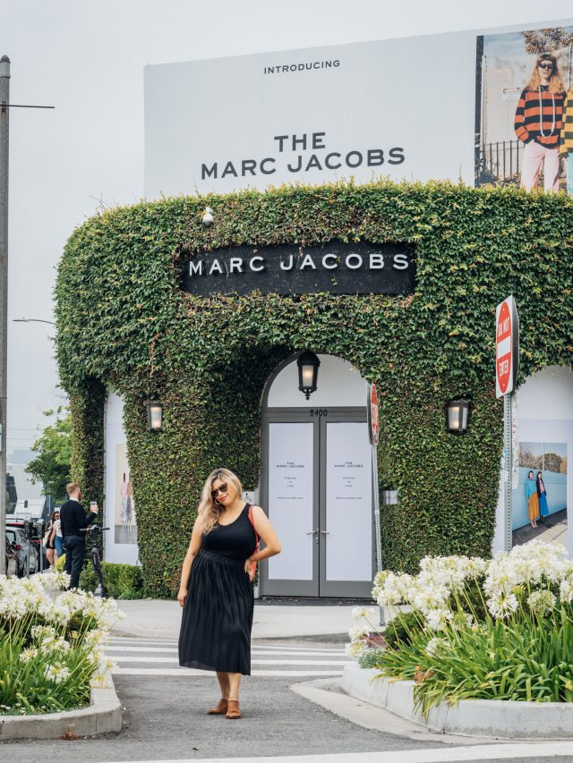Broke Fashion: Roaming Around Melrose Place // www.brokeandchic.com