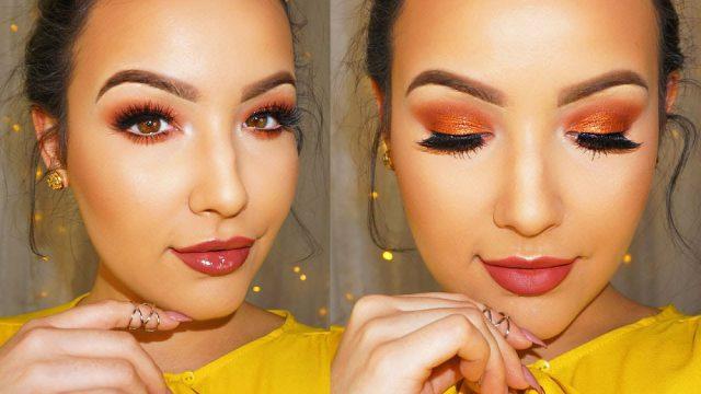 Peach makeup!
