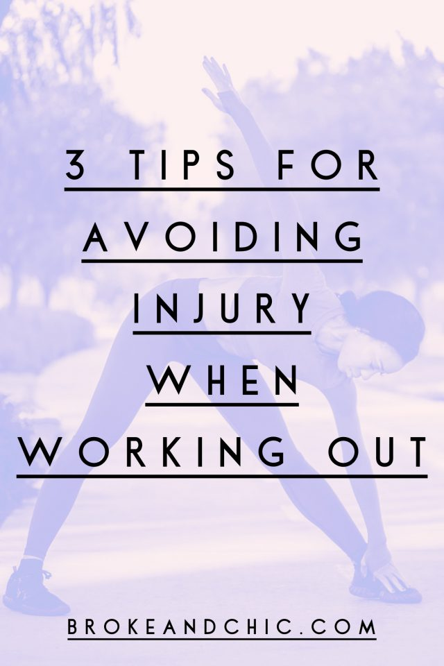 3 Tips For Avoiding Injury When Working Out