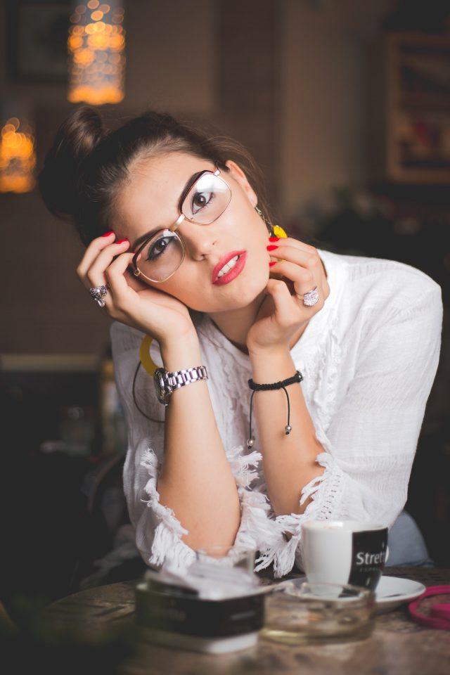 Square framed glasses!