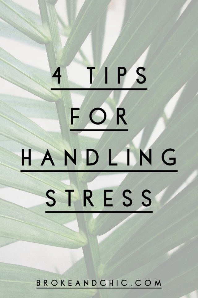 Tips for handling stress