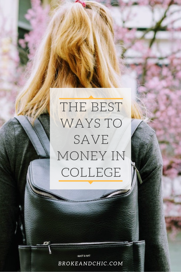 ways to save money in college