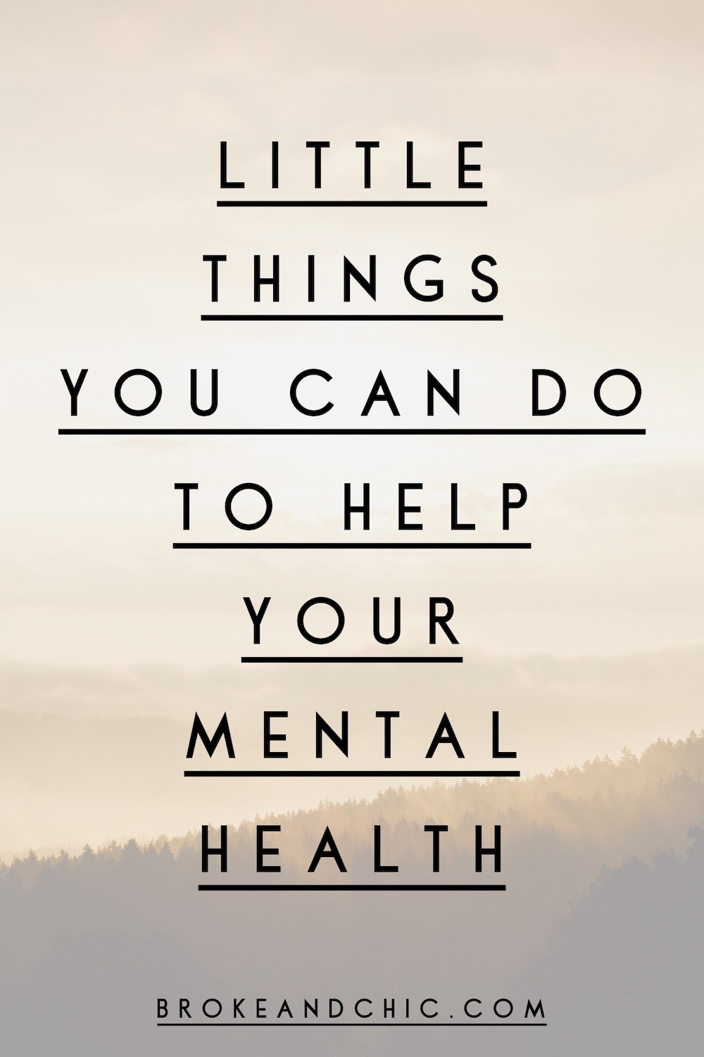 Super Simple Little Things You Can Do To Help Your Mental Health