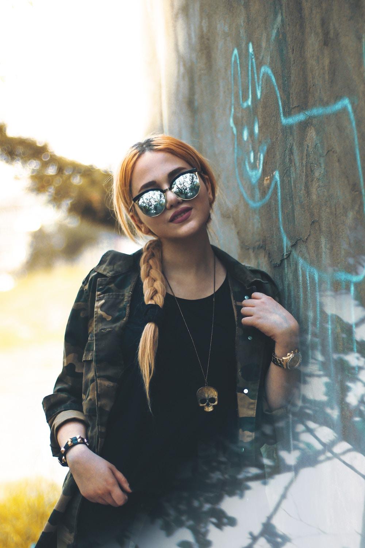 grey mirrored sunglasses