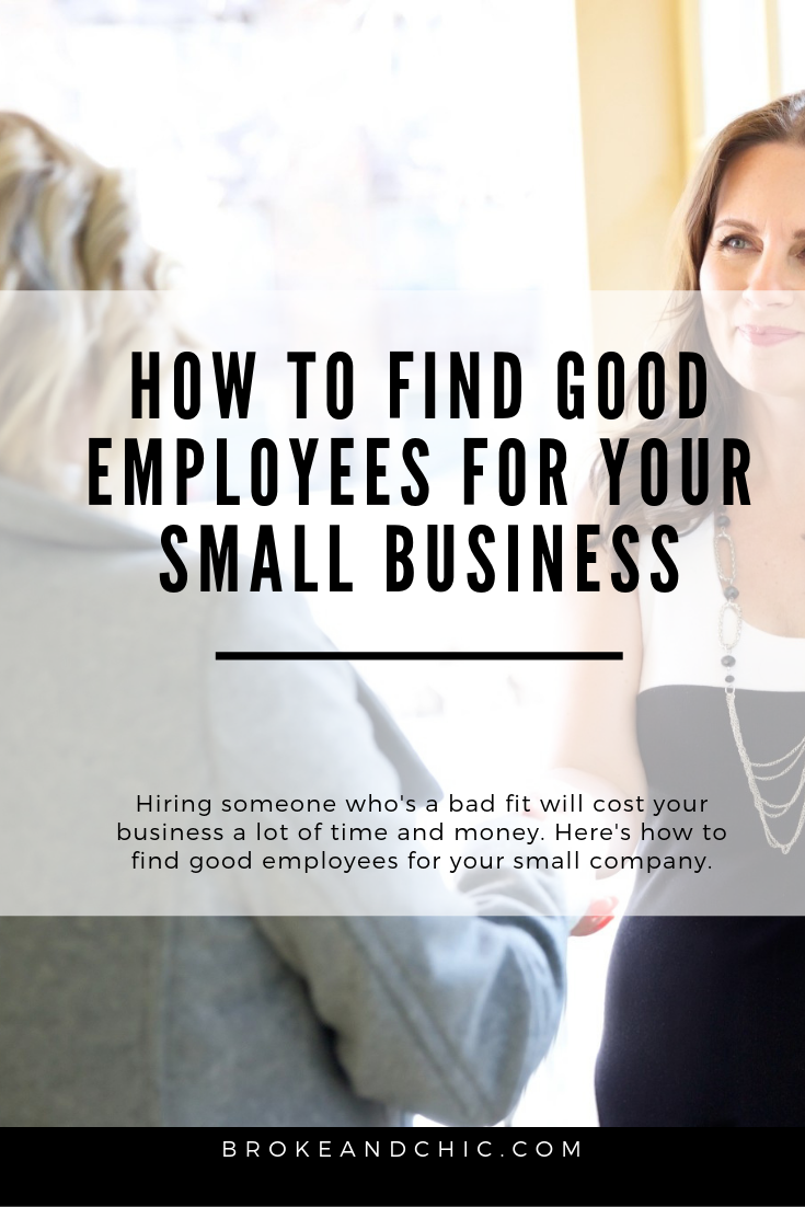 how to find good employees for your small business