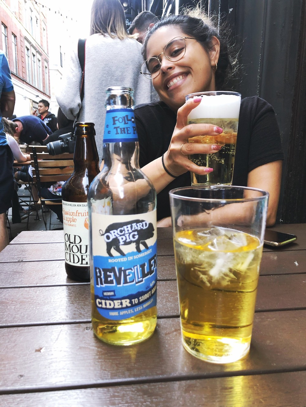 drinking cider in London