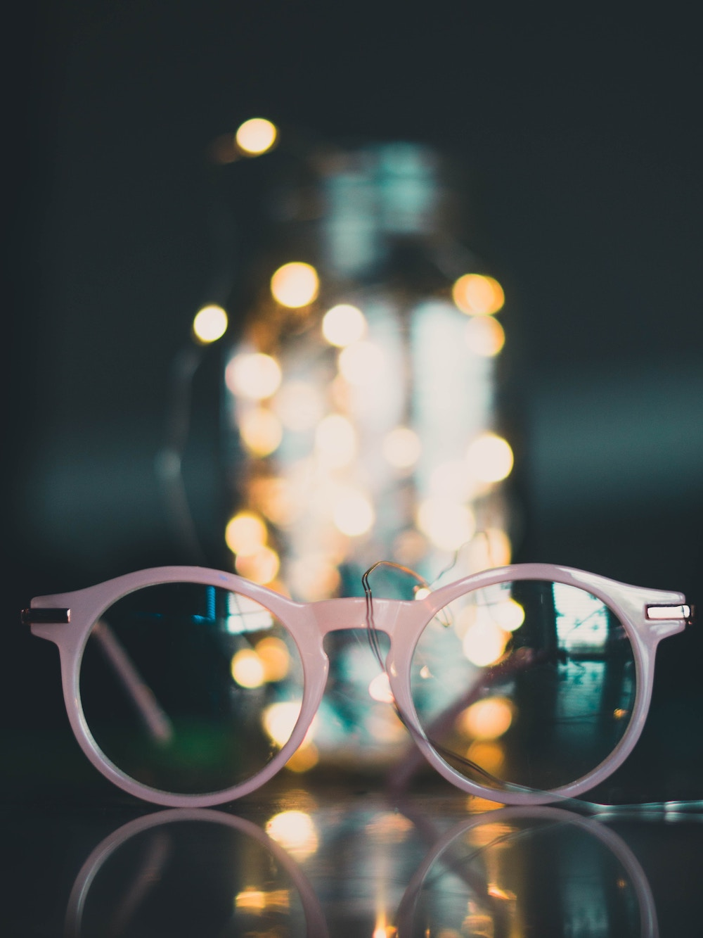 dusty pink glasses