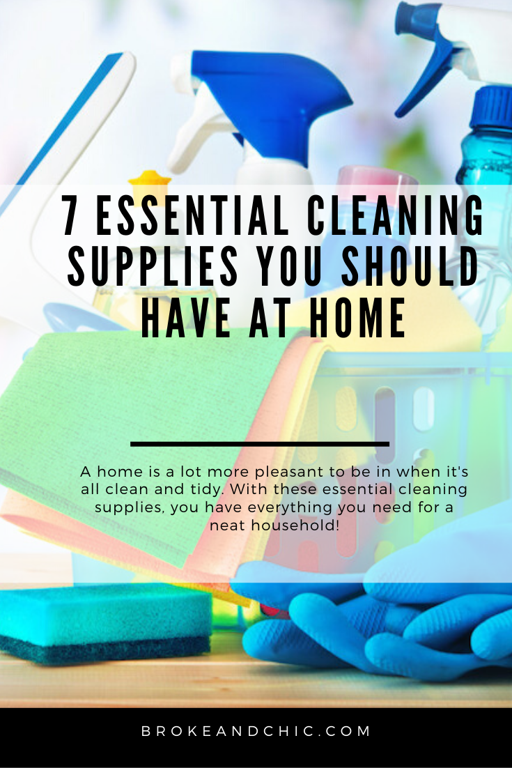 cleaning supplies everyone should own