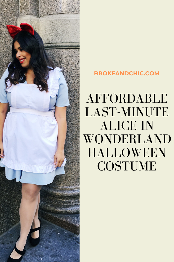 Directions for a homemade Alice in Wonderland Halloween Cosplay Costume