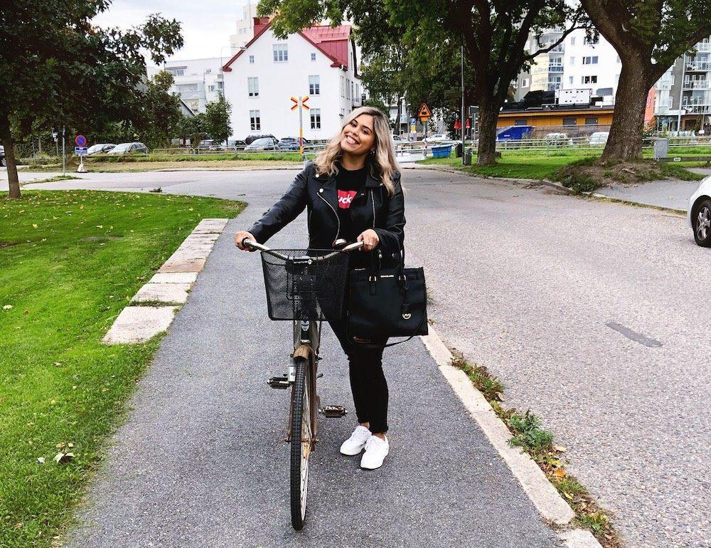 All Black and a Brand New Bike in Orebro Sweden
