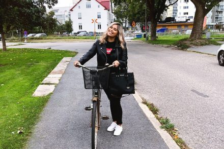 All Black and a Brand New Bike in Orebro Sweden