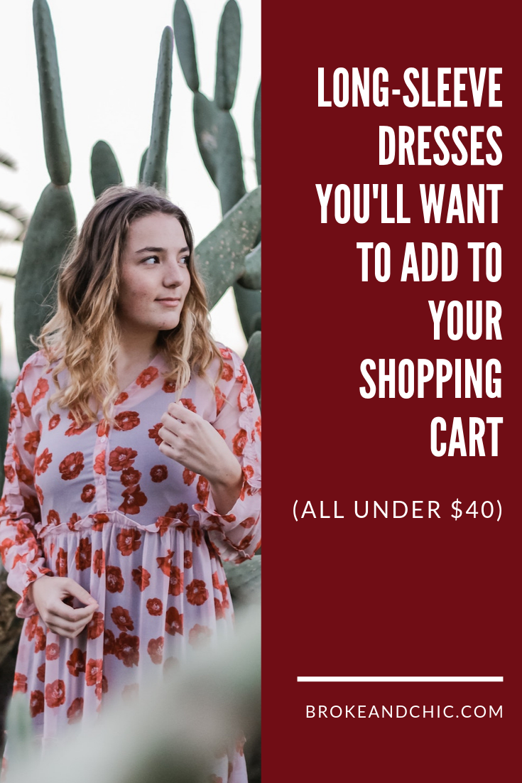 Long-Sleeve Dresses You'll Want to Add to Your Shopping Cart (All under $40)
