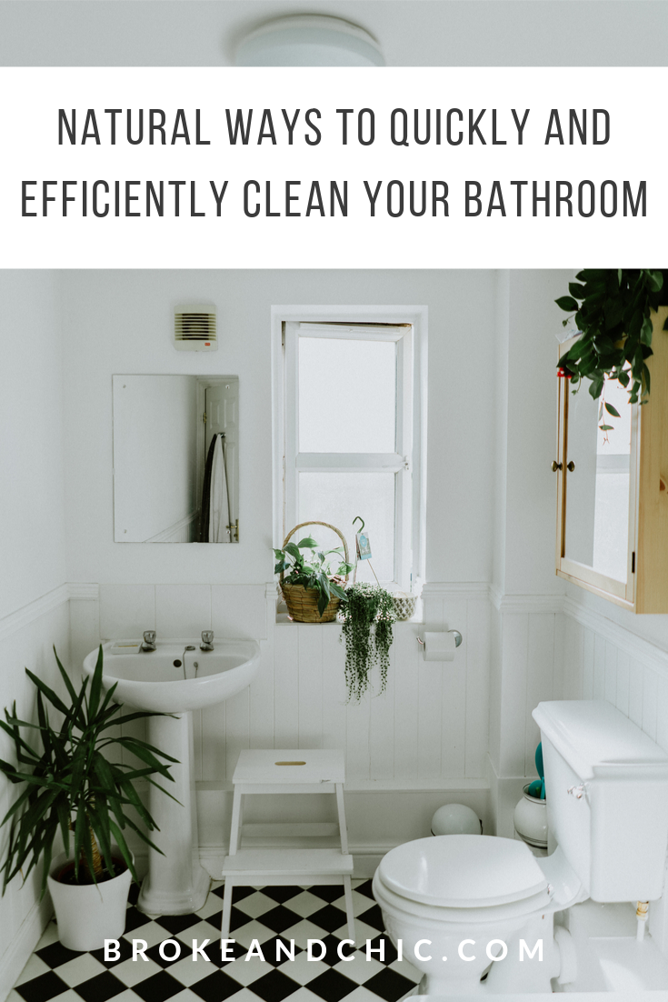 natural ways to clean your bathroom