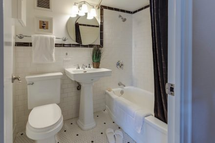 subway tile bathroom renovation