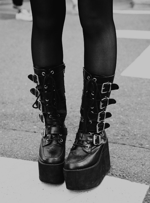 Demonia Boots with Buckles