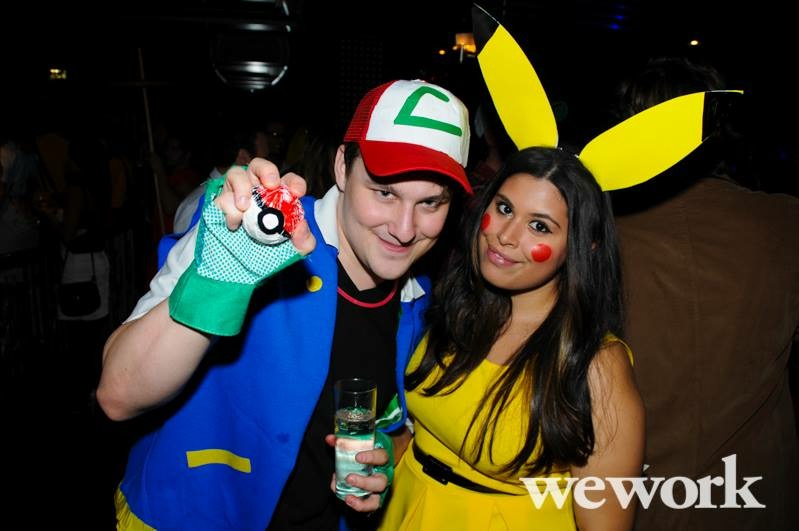 pikachu and ash halloween couples costume cosplay