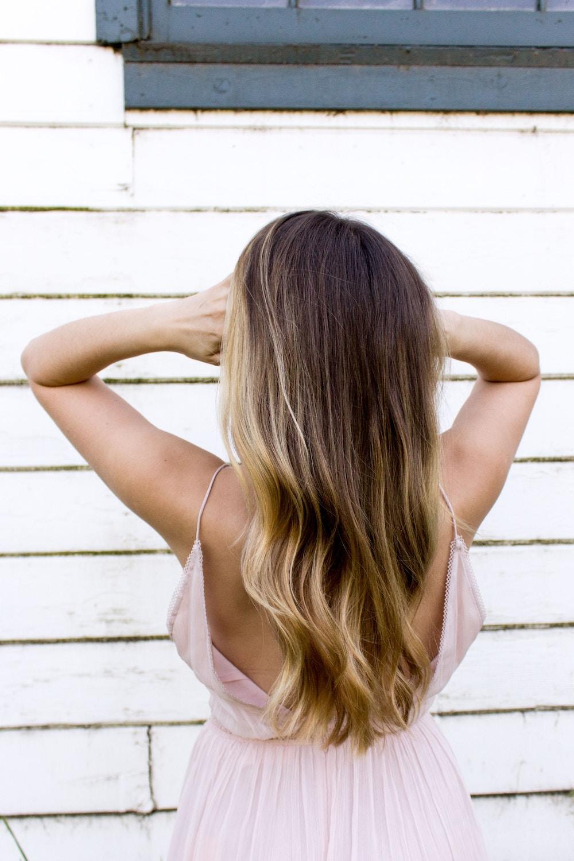subtle balayage on brown hair