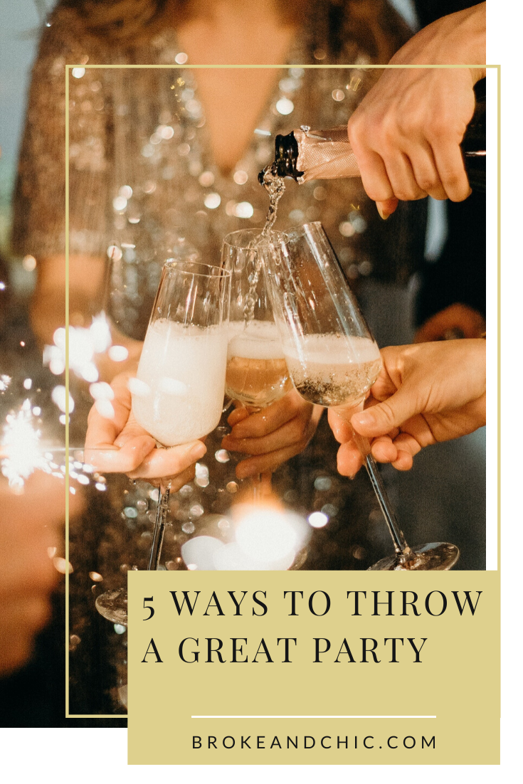 throwing a party