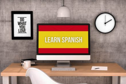 workspace computer learn spanish