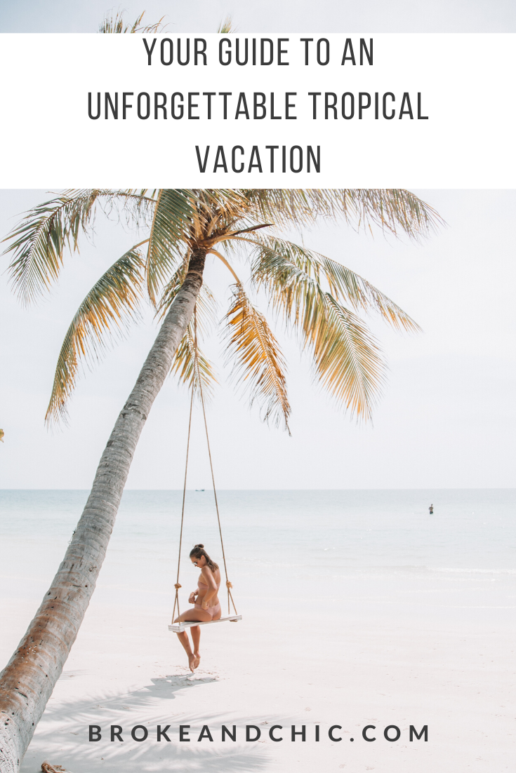 planning a tropical vacation