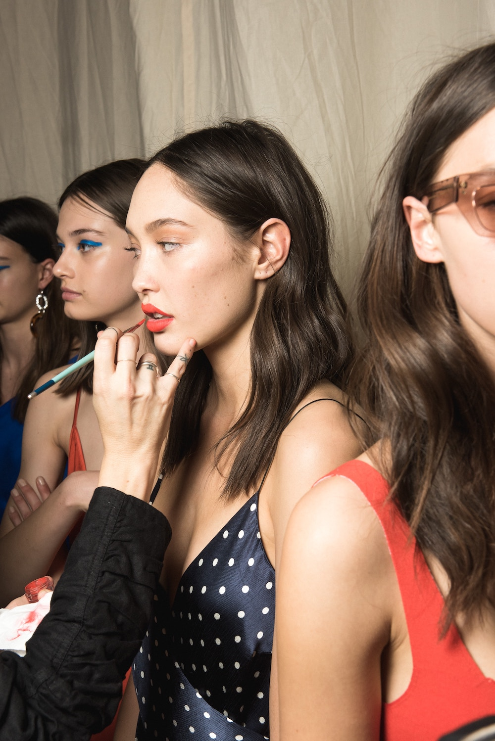 backstage at a fashion show models