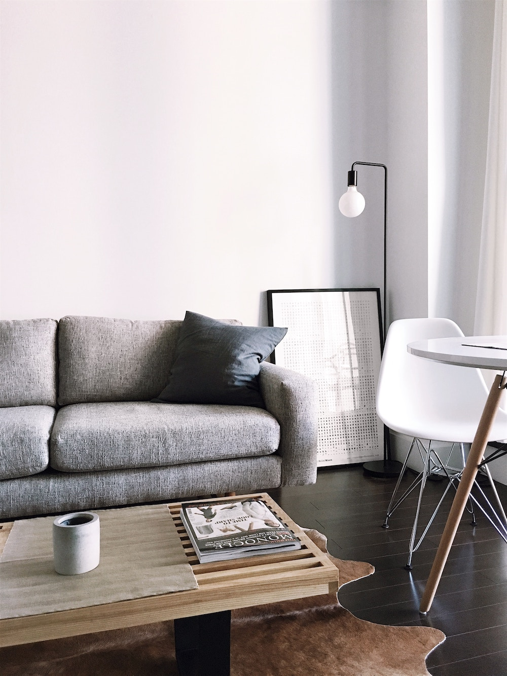 modern grey couch