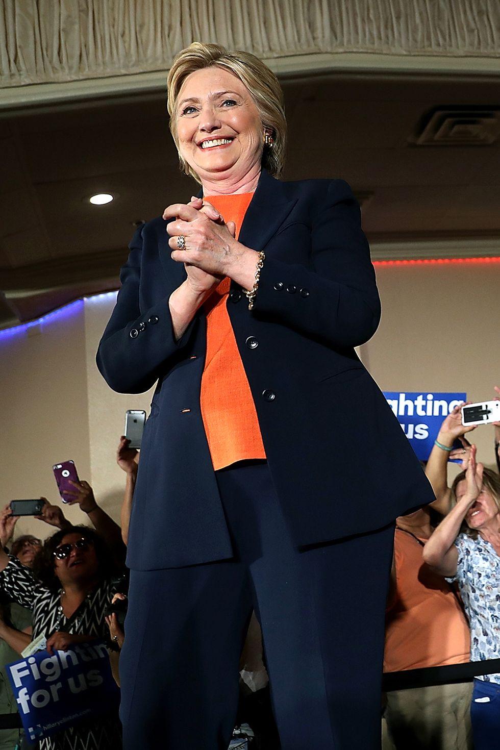 Hillary Clinton black suit
