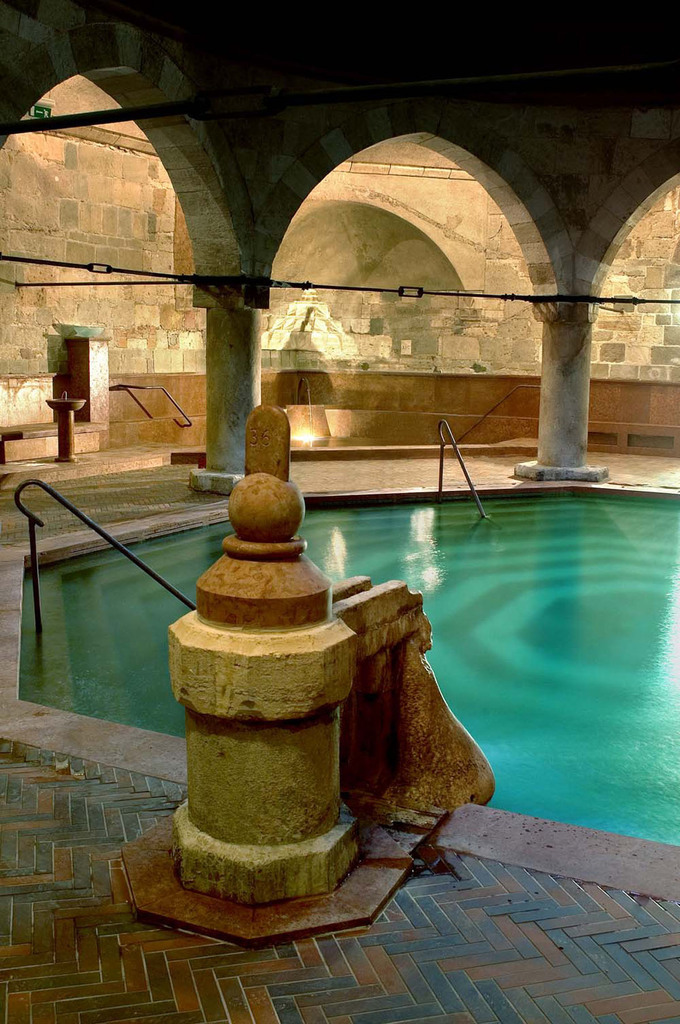 Turkish bath in Budapest Hungary