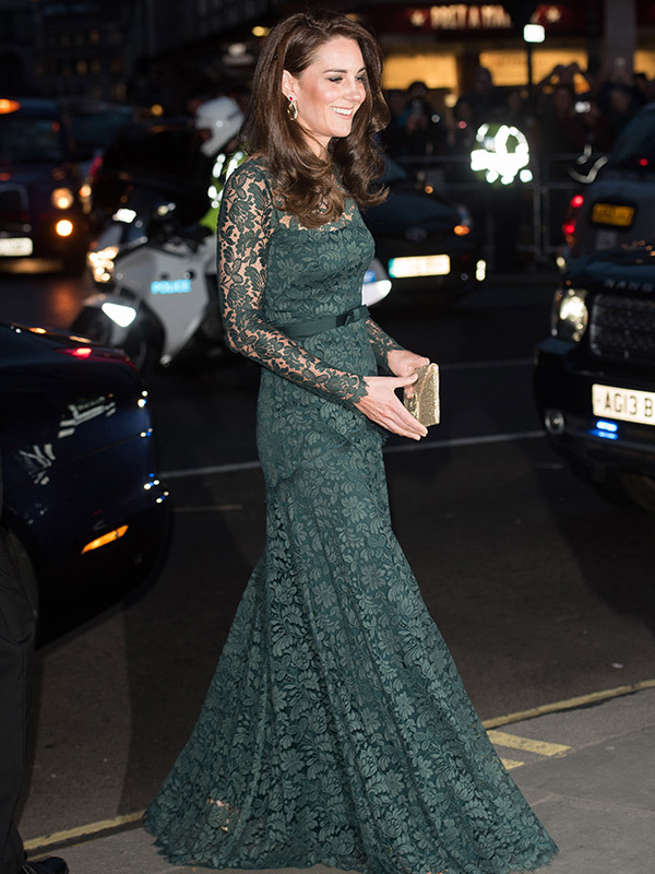 Kate Middleton in green gown